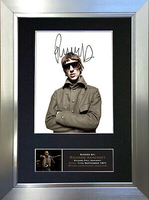 RICHARD ASHCROFT The Verve Signed Autograph Mounted Photo Repro A4 Print 657