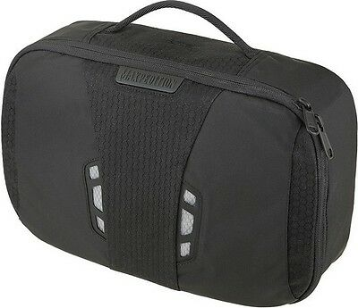 Maxpedition LTBBLK Lightweight Toiletry Bag Garment Hook Black