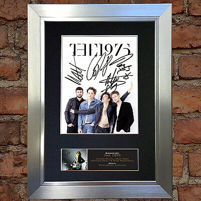 THE 1975 Signed Autograph Mounted Photo Repro A4 Print 658