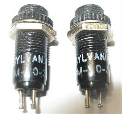 (2) Sylvania Bi-Pin Cartridge Lampholders Panel Mount Indicator Lights