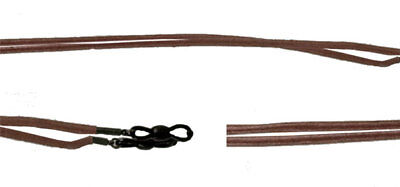 Leather Thong - Brown cord chain string strap Sunglasses Eyeglass Reading Gla...