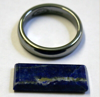 Natural Lapis Lazuli Loose Gemstone 23X10Mm Gem Baguette Cabochon 9Ct La32