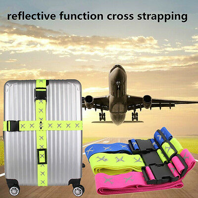 Practical 2M Outdoor Plane Travel Luggage Suitcase Baggage Bag Cross Strap Belt