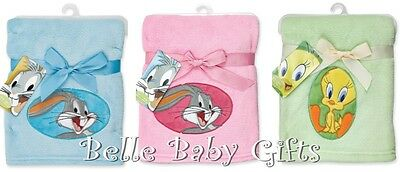 Looney Tunes Plush Baby Blanket - Assorted Colours