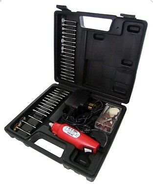 60pc Pro Mini Rotary Drill & Grinder Engraver Tool Set Kit Craft Hobby Brand New