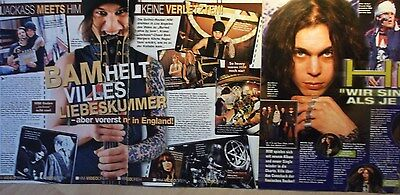 3 german clipping HIM VILLE VALO N. SHIRTLESS ROCK BOY BAND BOYS GROUP SINGER