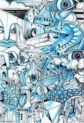 Original Surreal Artwork Illustration Artist Spencer J. Derry Art Drawing
