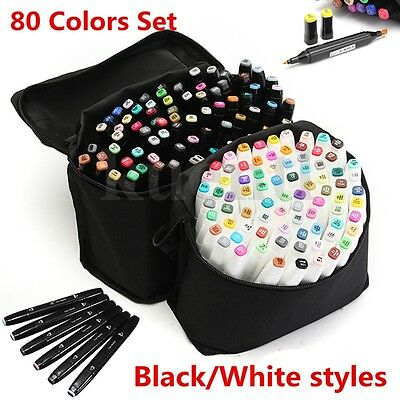 80Colors TouchFive  Alcohol Graphic Art Twin Tip Marker Pen Broad Copic Sketch