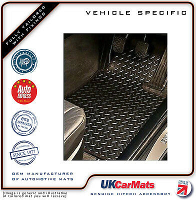 Genuine Hitech Peugeot 208 Tailored Chequered VS Rubber Car Mats 2011-