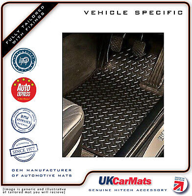 Genuine Hitech Ford Focus MK3 Tailored Chequered VS Rubber Car Mats 2015-