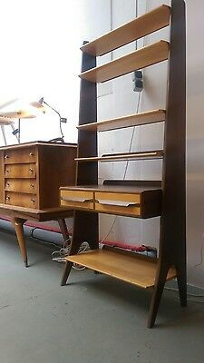 Regal Bücher Danish Modern Design 50s 60s String Leiter Ära Midcentury