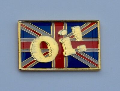 Gold Plated Oi! Union Jack Skinhead Skins Quality Enamel  Pin Badge