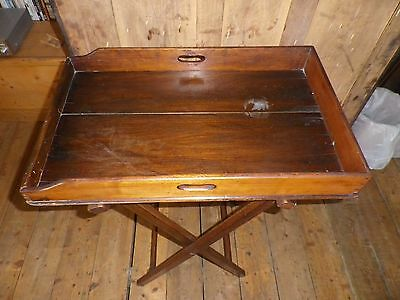 vintage wooden butlers tray & Stand