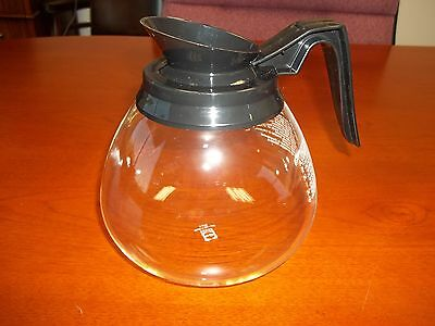 12-Cup Commercial Coffee Pot/Decanter/Carafe for Bunn Brewers - Regular (Black)