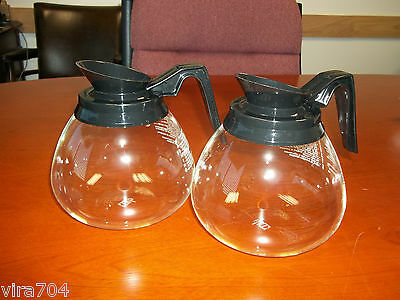 2 Pack - 12 Cup Commercial Coffee Pots/Carafes/Decanters for Bunn - Regular
