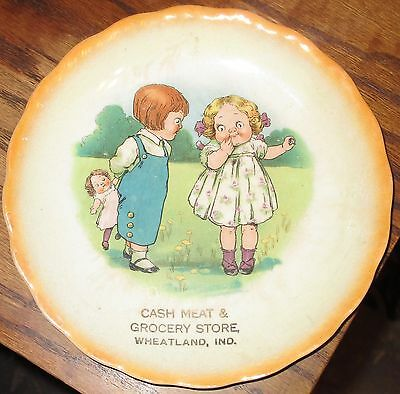 Wheatland Indiana grocery store advertising plate ca. 1920 Vincennes