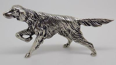 58g Vintage Solid Silver Dog Big Miniature - Stamped - Made in Italy