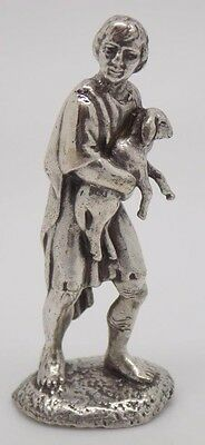 Vintage Solid Sterling Silver 925 Farmer Miniature - Stamped - Made in Italy