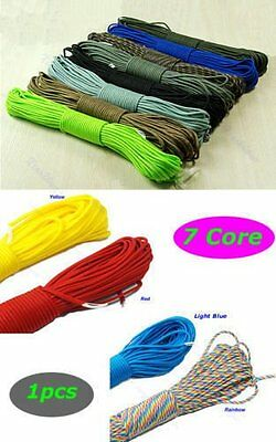 550 Paracord Parachute Cord Lanyard Mil Spec Type III 7 Strand Core100FT hrth