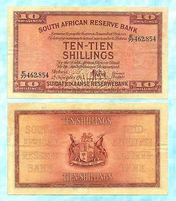 South Africa 1945 MH De Kock Ten Shillings E77 462854