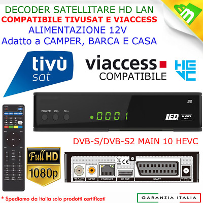 Decoder Satellitare Hd S2, Wifi,pvr,usb, Legge Schede Tivusat E Tv Svizzera