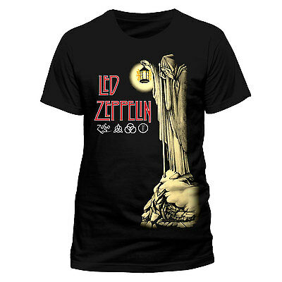 Led Zeppelin T Shirt Hermit Officially Licensed Mens Black Classic Rock Merch