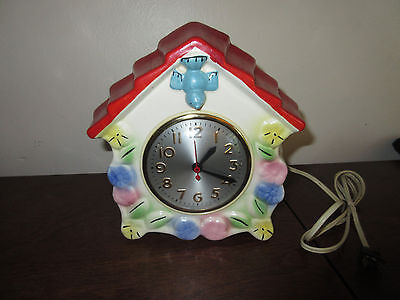 Vintage Hull Pottery Bluebird Wall Clock Little Red Riding Hood Non Working PART