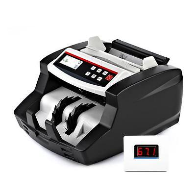 Auto Bill Counter Digital Cash Money Banknote Counting w/ Counterfeit Detection