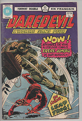 DAREDEVIL #27/28 french comic français EDITIONS HERITAGE