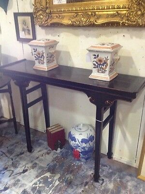 Asian Sofa Hall Side Board Table! EUC! Hand Carved! PICK UP ONLY! ROSWELL, GA