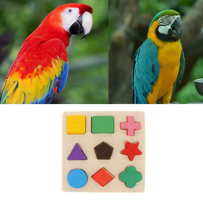 Pet Parrot Intelligence Training Toy Puzzle Building Blocks for Bird Cage