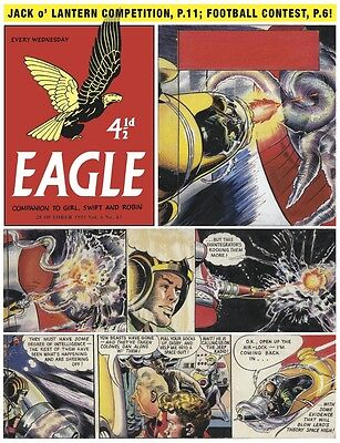 Original Cover Artwork by Frank Hampson. Man from Nowhere  Eagle 28/10/1955