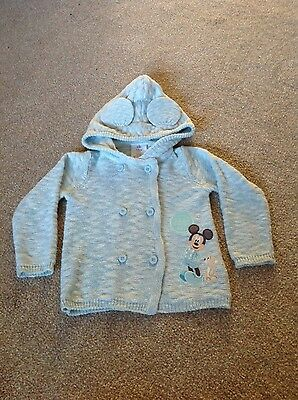 disney store baby boy cardigan 12-18 month mickey mouse very cute