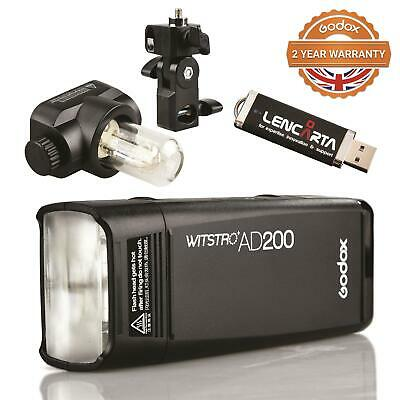 UK Godox AD200 TTL HSS 2.4G 1/8000 Wireless Pocket Double Head Flash