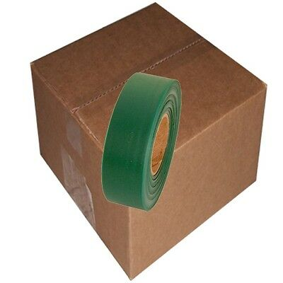 Green 12 Rolls Flagging Marking Tape 1 3/16 in x 300 ft Non-Adhesive