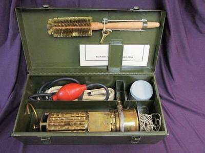 Antique Wolf Oxygen Deficiency Mining Brass Lamp Manual & Case - COMPLETE