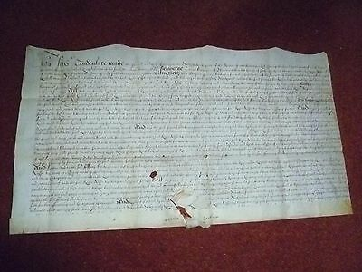 An Indenture of Charles 11 reign written in English on parchment.