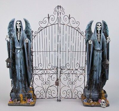 """Katherine's Collection Halloween Forest Cemetery 26"""" Tabletop Cemetery Gate NEW"""