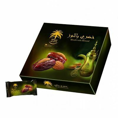 Siafa Khudry Dates with Almonds 300g Box Fresh Date Khajoor Grade A Quality