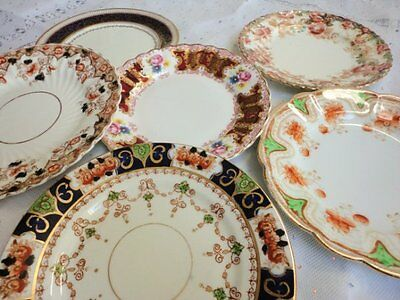 English China Vintage x 6 Tea side bread butter plates mixed
