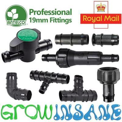 Antelco 19mm ID Large Pipe Fitting Barbed Garden Watering Irrigation Connector
