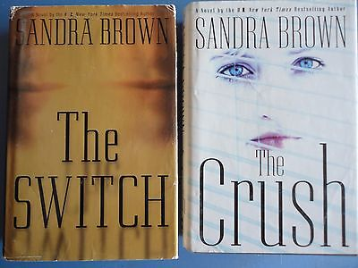 2 Sandra Brown hardcover books--The Crush and The Switch