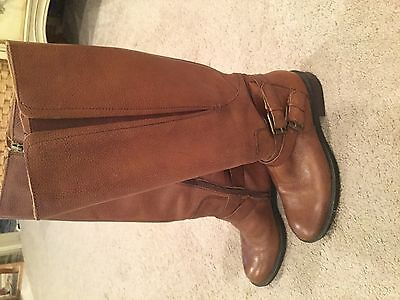 Enzo Angiolini Women's Leather Boots Straps size 7.5 M brown