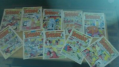 10 THE DANDY COMIC's pre-owned