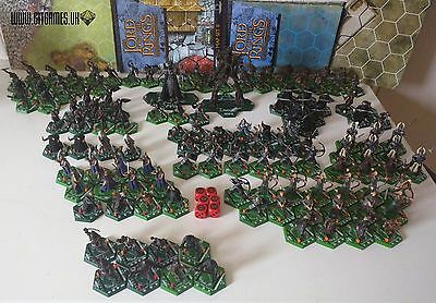 LotR Tradeable Miniatures Game 130+ maps set, dice Hex Combat TMG boardgame