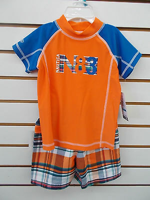 Infant, Toddler, & Boys Nautica $48-$54 2pc Orange & Blue Swim Set Size 24mo-7X
