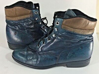 Women's SZ 10 Performair LAREDO  Cowgirl Blue/Brown Leather Boots