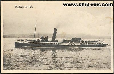 DUCHESS OF FIFE (Caledonian Steam Packet) - old postcard
