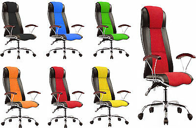 Office Desk Racing Gaming Chair  Adjustable Leather Swivel High Back Comfort