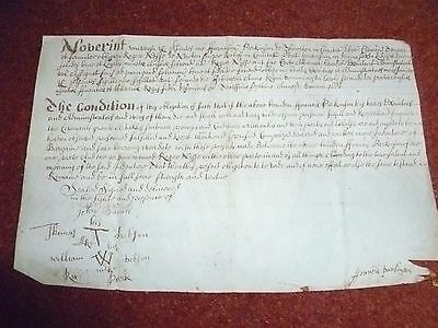 A Bond on Parchment in English and Latin dated 1684.